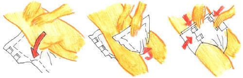 cambio de pañal Pañal con elásticos: posición acostado