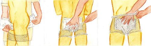 Cambio de pañales Pañales con malla (anatómicos y rectangulares): posición de pie
