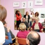 Ana Botella, durante la visita al Centro de Día 'Doctor Salgado Alba'