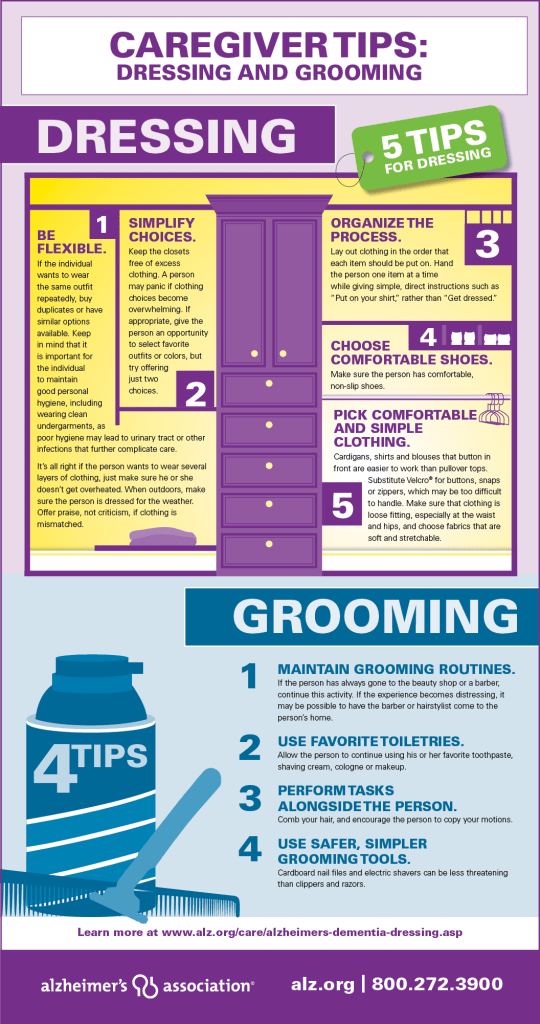 Dressing and Grooming Caregiver Tips