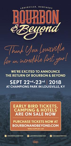 Bourbon & Beyond: Save The Date (Sept. 22-23, 2018)