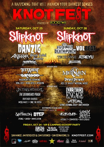 Knotfest flyer
