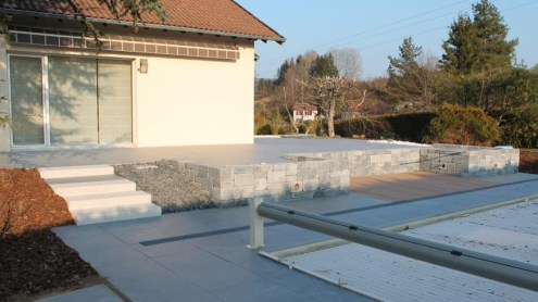 Dallage terrasse et entourage de piscine, Epinal