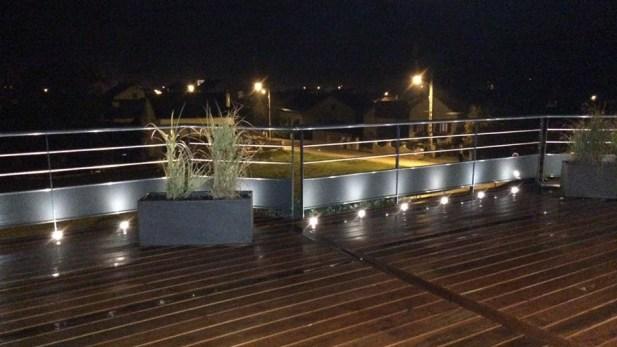 Terrasse bois avec garde-corps eclairé, Epinal