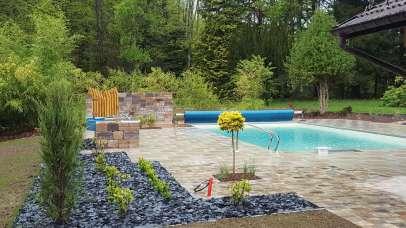 Aménagement des abords d'une piscine, Epinal