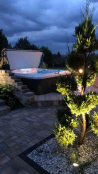 Eclairage terrasse avec spa