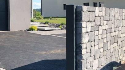 Mur d'enceinte en pierres sèches