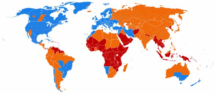 zomertijd en wintertijd zones in de wereld