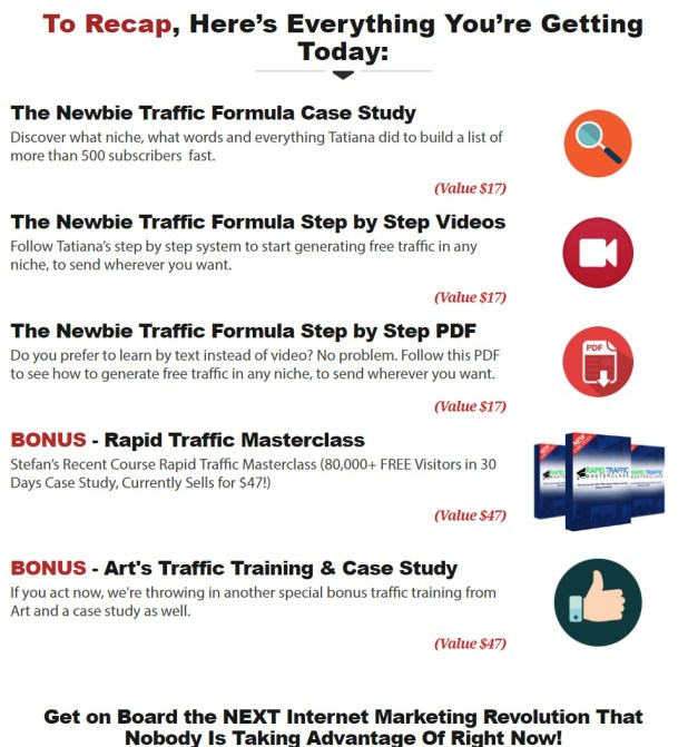 Sales Page Preview — Newbie Traffic Formula