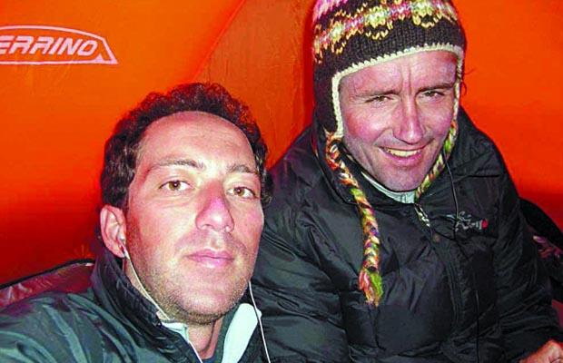 Iñaki Ochoa de Olza y Horia Colibasanu, en el Annapurna