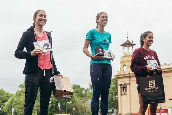 podio femenino salomon run