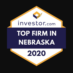 badge from investor.com naming america first investment advisors a top firm in nebraska for 2020