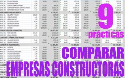 CÓMO COMPARAR PRESUPUESTOS DE CONSTRUCTORAS (plantilla)