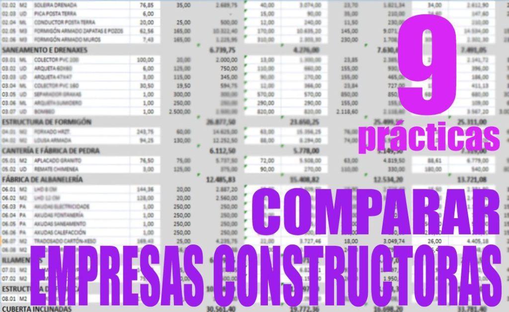comparar presupuestos de constructoras