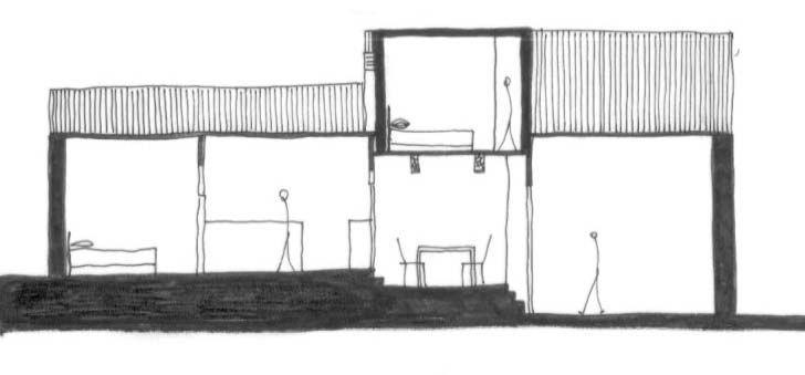 sección del refugio de Menchu