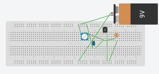 ব্রেডবোর্ডে সার্কিট টি যেমন দেখাবে ব্রেডবোর্ড ব্রেডবোর্ড/প্রজেক্ট বোর্ড পরিচিতি ও বেসিক ইলেকট্রনিক্স সার্কিট circuit on breadboard