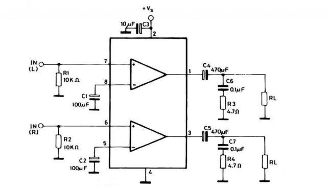 TDA2822 IC দিয়ে মিনি এম্পলিফায়ার সার্কিট ডায়াগ্রাম