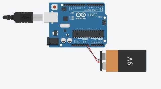 আরডুইনো কে ব্যাটারি দিয়ে কানেক্ট করা রোবট রোবট তৈরি - আরডুইনো ও আলট্রাসনিক সেন্সর দিয়ে অবস্টাকল এভয়ডার connectin arduino with battery