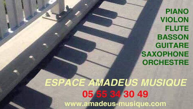 Espace Amadeus Musique : piano, violon, flûte, basson, guitare, saxophone, orchestre