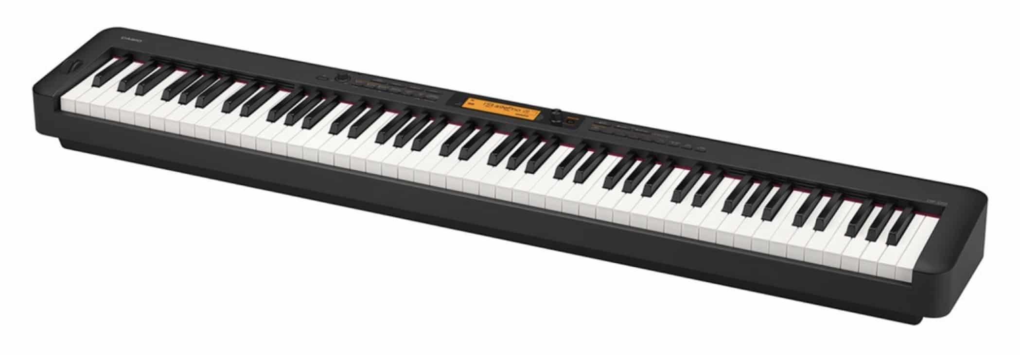 Pianos numériquesPour un piano numérique, le choix va surtout se jouer sur le prix : plus on monte en gamme, plus les échantillons seront de bonne qualité et plus le son sera réaliste. Le type de toucher est l'autre critère déterminant. L'idéal est un toucher lourd qui se rapproche de la réponse d'un piano acoustique. Le nombre de touches peut jouer si vous avez une place disponible très réduite (le maximum est de 88 touches, puis on descend à 76 et 64). Certains offrent aussi plus de sons différents (orgue, piano électrique) et des possibilités d'enregistrement basiques.