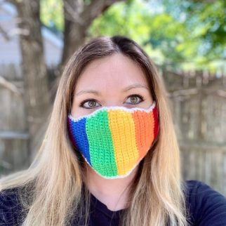 Crochet Rainbow Mask by Crafty Kitty Crochet