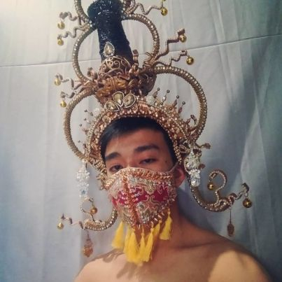 Elaborate Crown Face Mask by kennedy_gasper