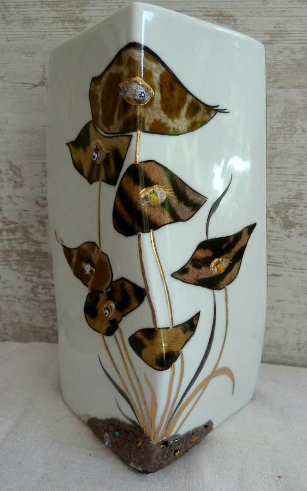 Peinture Sur Porcelaine Vase Triangle Amagalerie