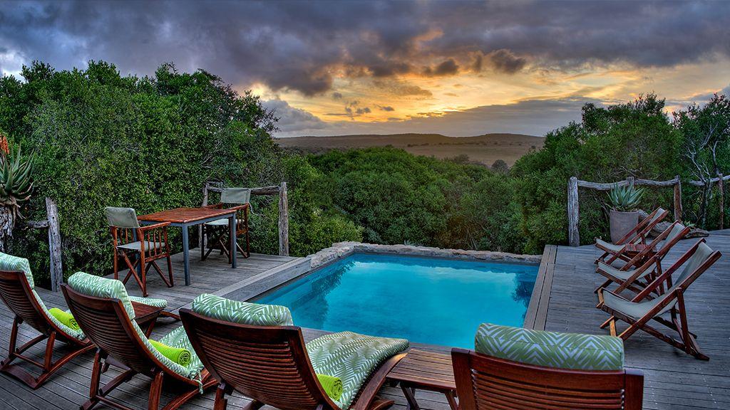 HillsNek Safari Camp Swimming Pool Sunset