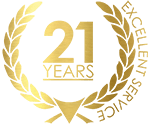 21 Years Logo Gold2019
