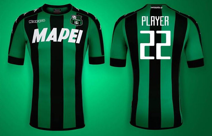 07f0dc6f039c7b Sassuolo, nuova maglia Kappa 2016-2017