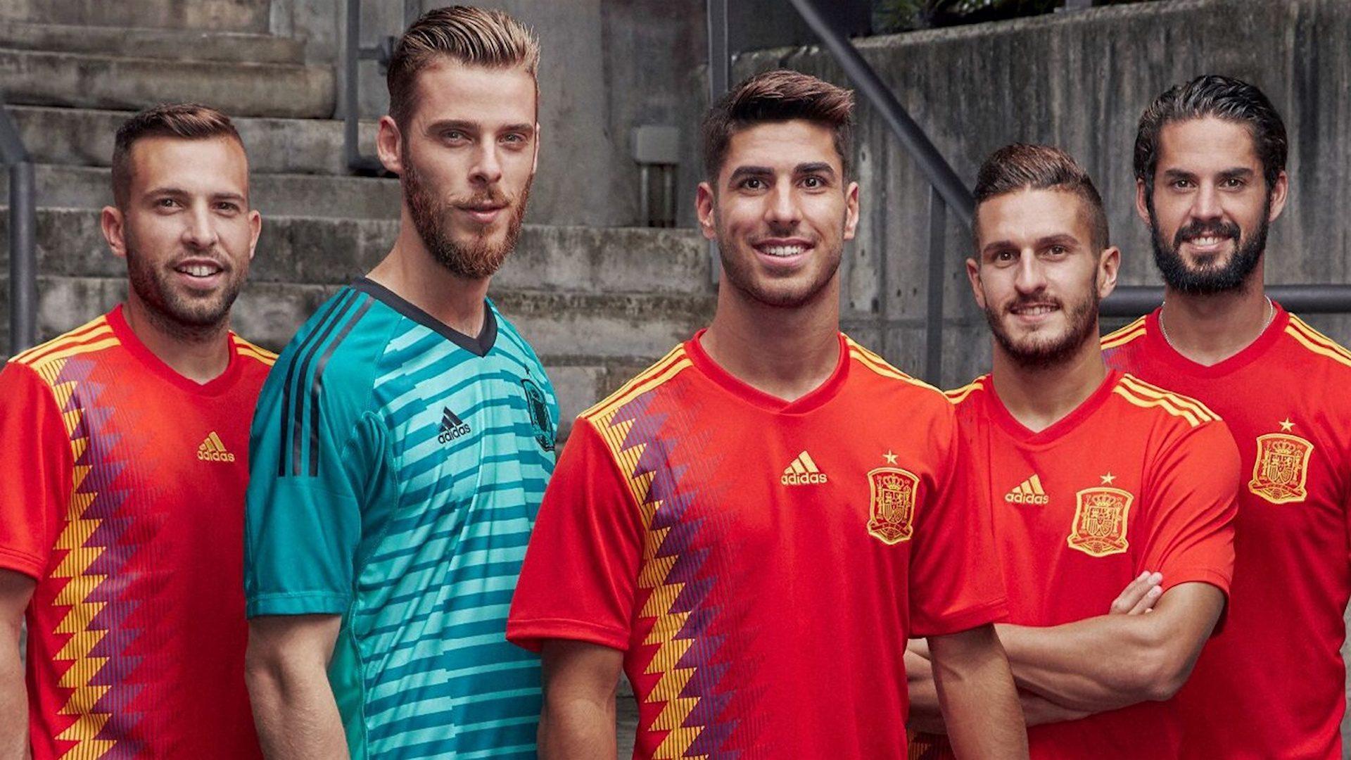 spagna kit home mondiali 2018