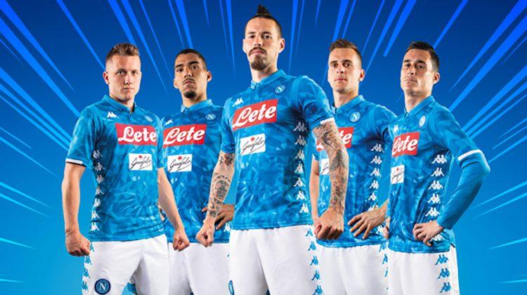 Napoli home kit 2018 2019 Kappa