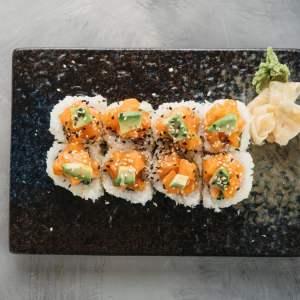 Amami Sushi Fire Roll Uramaki