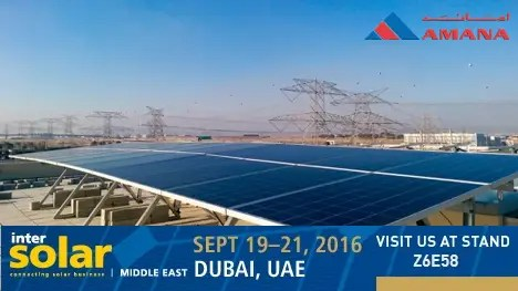 Rooftop solar panels and invite to InterSolar Middle East 2016