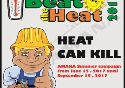 Beat the Heat Campaign Posters 2017