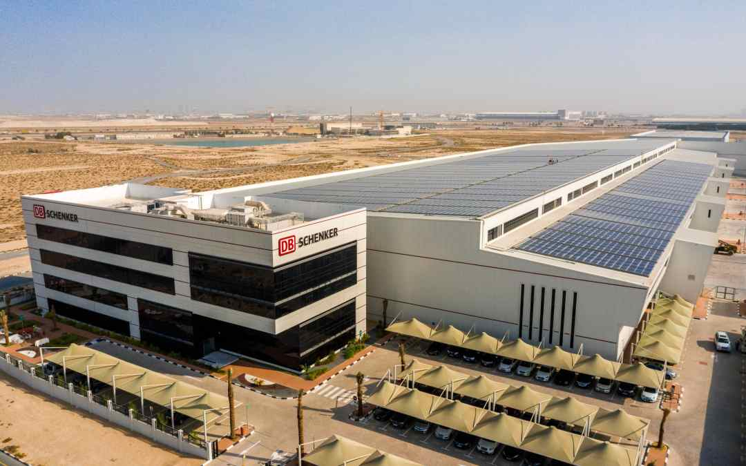DB Schenker's first grid-connected solar PV system in the region was proudly installed by AMANA on their new facility in DWC.