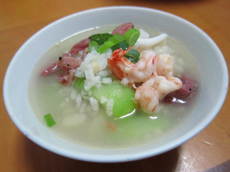 海鮮燻雞粥-清冰箱料理