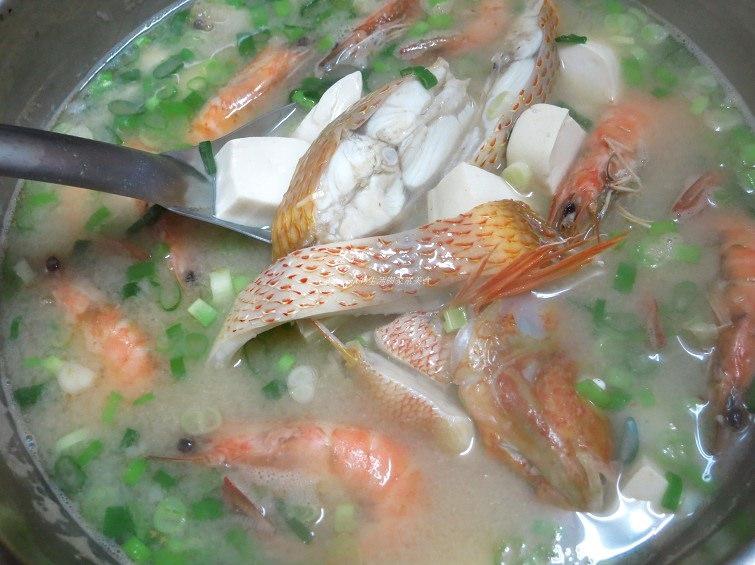 辣味噌海鮮豆腐湯 -味噌湯加點辣更美味