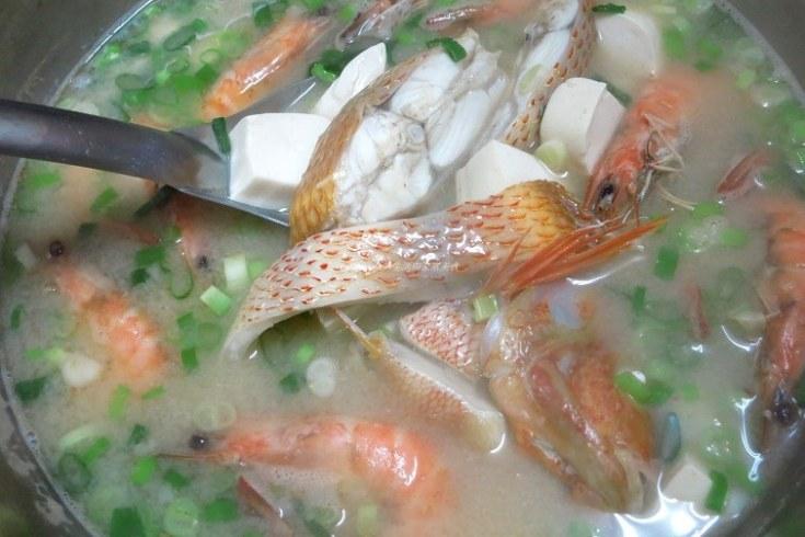 味噌,味噌湯,海魚,海鮮湯,蝦,辣味 @Amanda生活美食料理