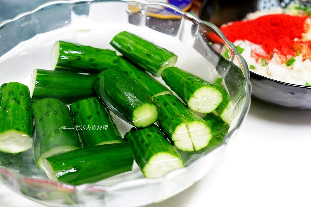 Amanda食譜,小黃瓜,小黃瓜泡菜,料理直播,泡菜,洋蔥泡菜,涼拌小黃瓜,辣泡菜,醃漬,韓式泡菜,韭菜