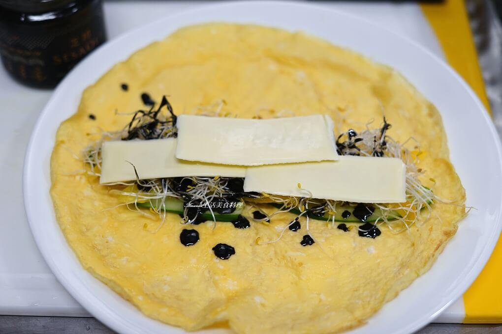 十分鐘上菜-鮮蔬高鈣蛋捲-煎蛋皮技巧