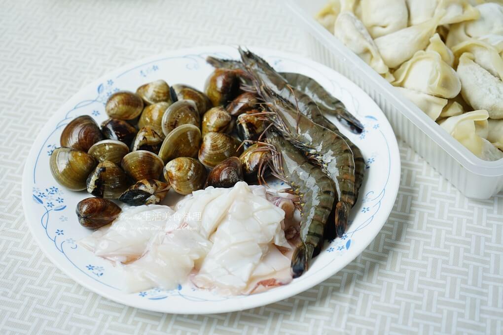 冷凍水餃,水餃湯,水餃湯底做法,海鮮,湯餃,湯餃 食譜,湯餃料理