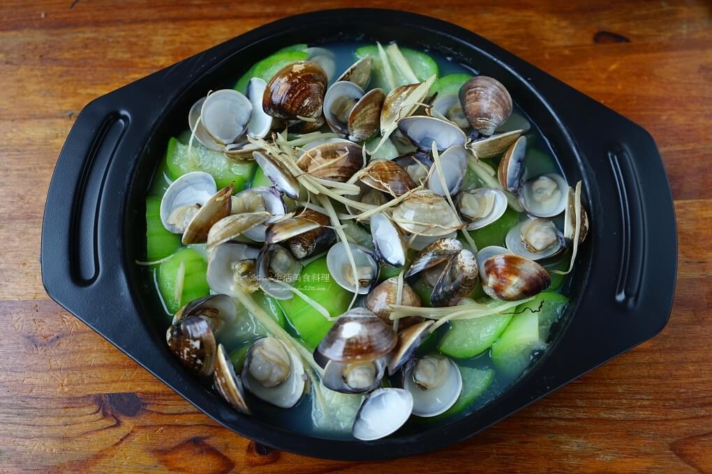 海鮮,烤箱,絲瓜,蔬菜,蛤蜊