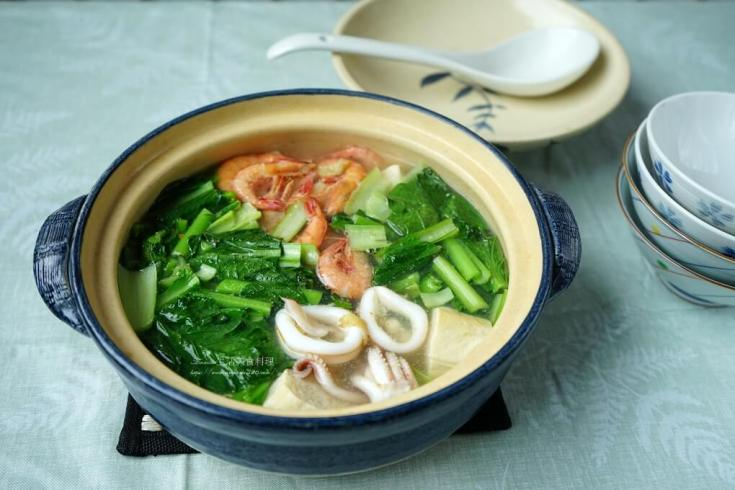 凍豆腐,海鮮湯,豆腐煲,麻油湯 @Amanda生活美食料理