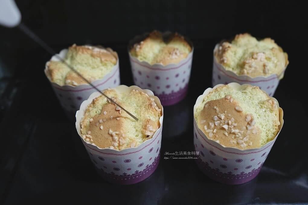 低糖蛋糕,杯子蛋糕,無麩質甜點,米蛋糕,蝶豆