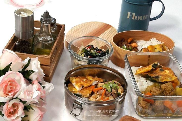 三色蛋,咖哩,洋蔥鮪魚炒蛋,肉丸,肉燥,蝦鬆,豆腐 @Amanda生活美食料理