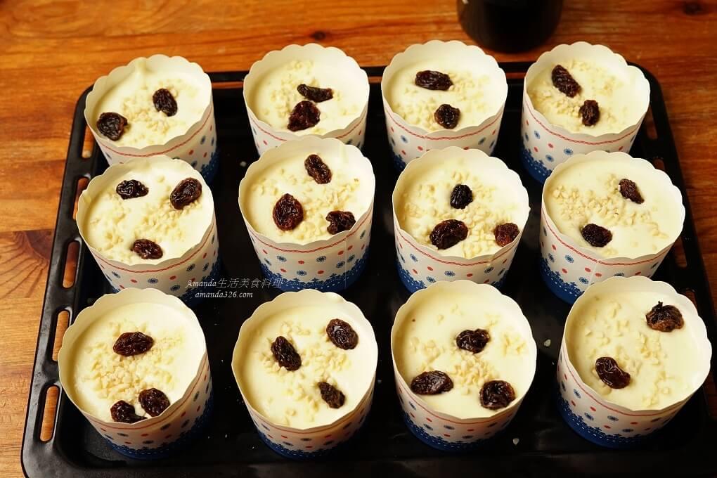 戚風蛋糕,杏仁蛋糕,杯子蛋糕,甜點,葡萄乾,蛋糕