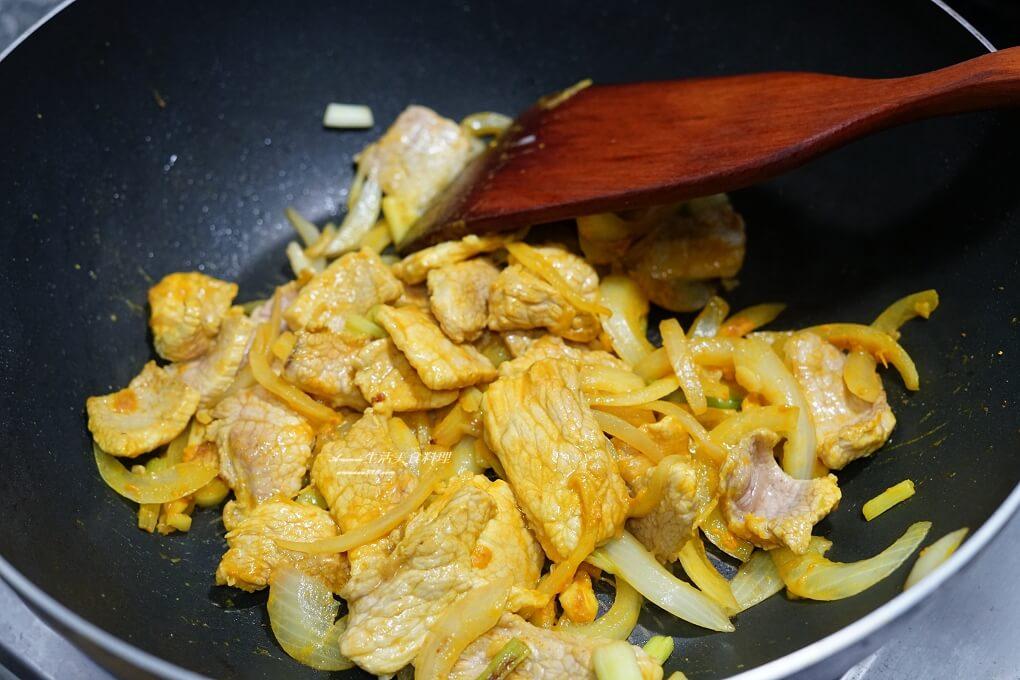 蔥燒肉,蔥燒豆腐,薑黃,薑黃豆腐,豆腐,豬肉