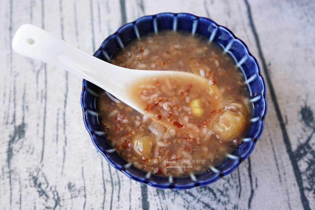桂圓粥,胭脂米,胭脂粥,雪蓮子