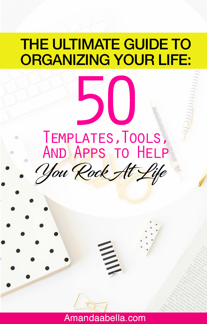 50 tools to organize your life